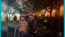 محتجون يشعلون الحرائق في شوارع محيطة بالبيت الأبيض