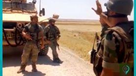 """""""هاد البوط على راسكن"""".. الإعلام الموالي يشيد بتصرف عنصر سوري مع دورية أمريكية بريف الحكسة"""