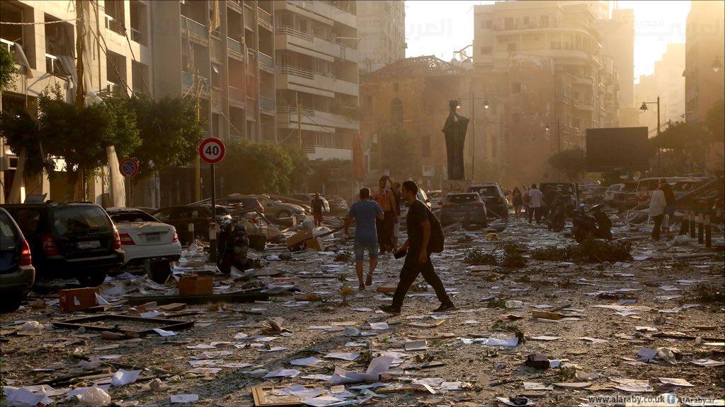 """إعلان بيروت """"مدينة منكوبة""""و عشرات القتلى وآلاف الجرحى"""