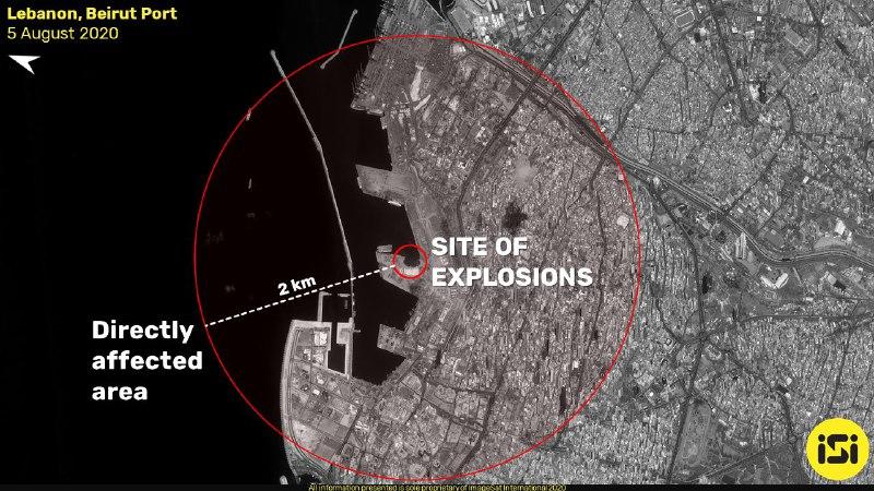صور الأقمار الصناعية تظهر حجم الدمار الهائل في مرفأ بيروت