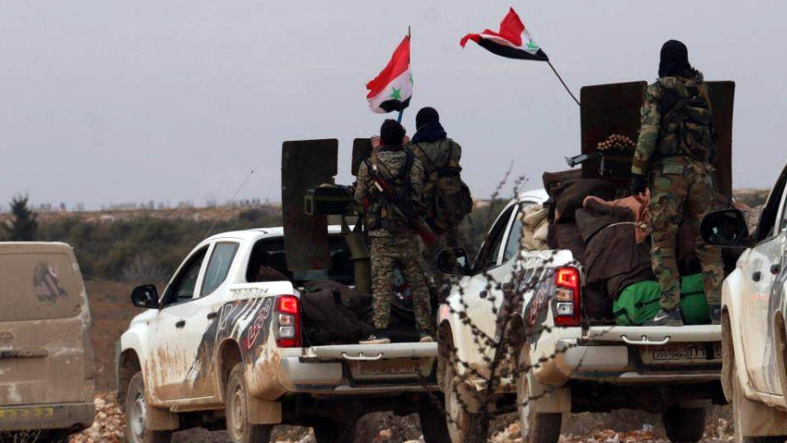 ما حقيقة سحب النظام لأرتال عسكرية من جبهة سراقب ومحاولة التقدم في جبل الزاوية