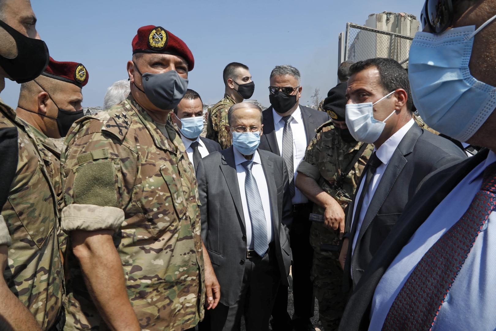 """ميشال عون: سبب انفجار بيروت لا يزال مجهولا وهناك احتمال """"تدخل أجنبي"""""""