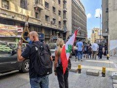 مظاهرات غاضبة وسط بيروت (فيديو)