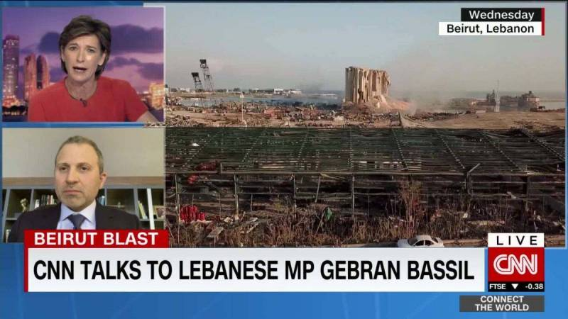 """مذيعة الـ""""CNN"""" توبّخ جبران باسيل صهر عون  مباشرة على الهواء."""