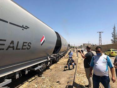 وصول أول قطار محمل بالحبوب إلى ريف دمشق