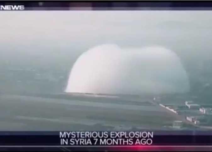 قناة أمريكية تنشر فيديو لانفجار في سوريا يشبه انفجار بيروت
