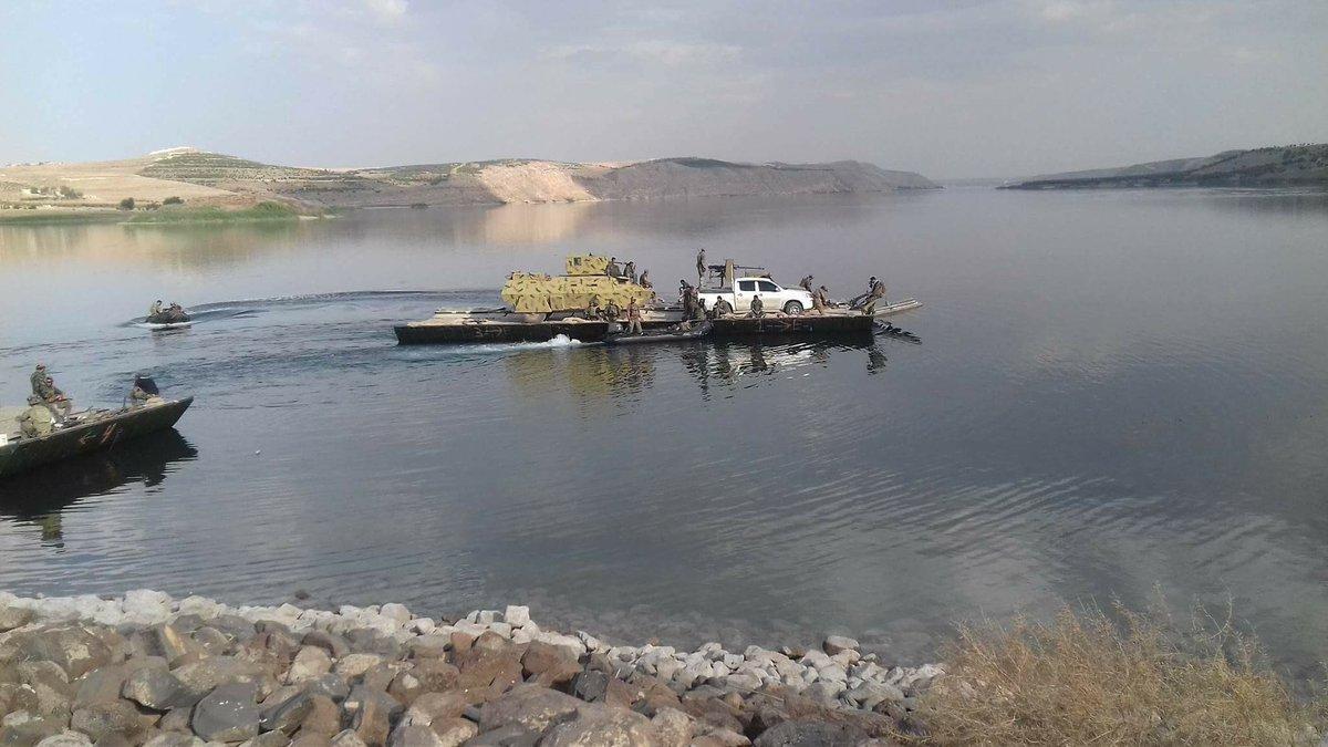 اشتباكات على ضفتي نهر الفرات بين ميليشيا قسد وقوات النظام