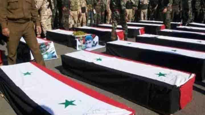 تنظيم الدولة يقتل  6 ضباط ونحو 20 عنصراً للنظام بكمين في بادية دير الزور