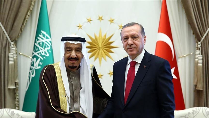 الملك سلمان يتصل بالرئيس التركي رجب طيب أردوغان