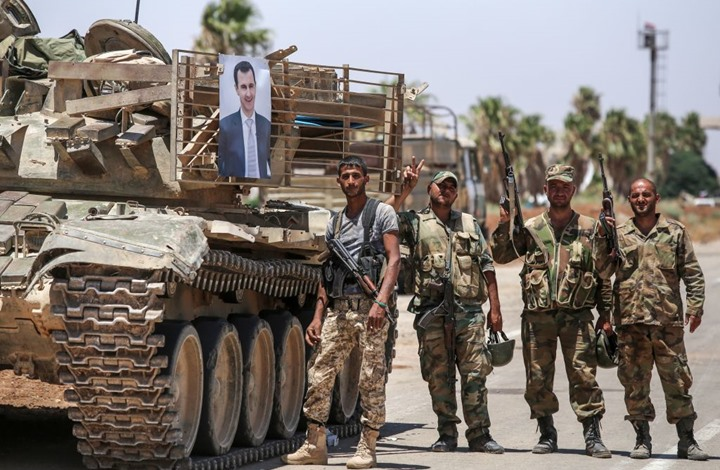 عناصر من قوات الأسد ينشقون عنها بعد  الهجوم الإسرائيلي
