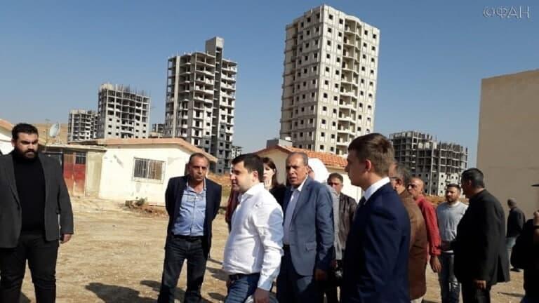 لتخطيط المنطقة، جولة لوزير النقل الروسي في ضواحي دمشق
