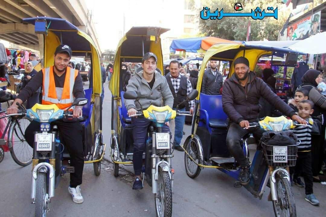"""بسبب أزمة المواصلات""""الباكسي"""" ينتشر في شوارع العاصمة دمشق"""