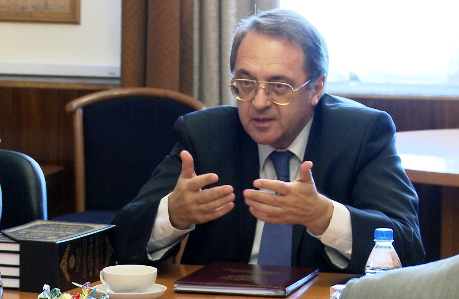 بوغدانوف: على واشنطن اتخاذ موقف متوازن اتجاه الازمة السورية