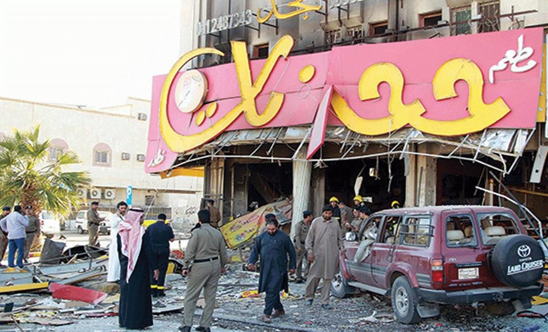 شاهد انفجار في السعودية يخلف قتيلا وعدد من الجرحى...فيديو