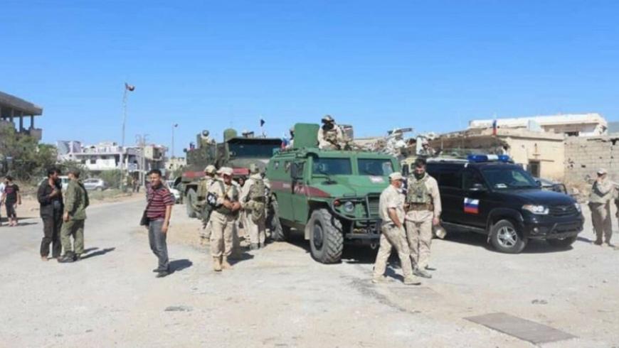الشرطة العسكرية الروسية  تمنع إيقاف وتفتيش سيارات المدنيين على اوتستراد درعا - دمشق