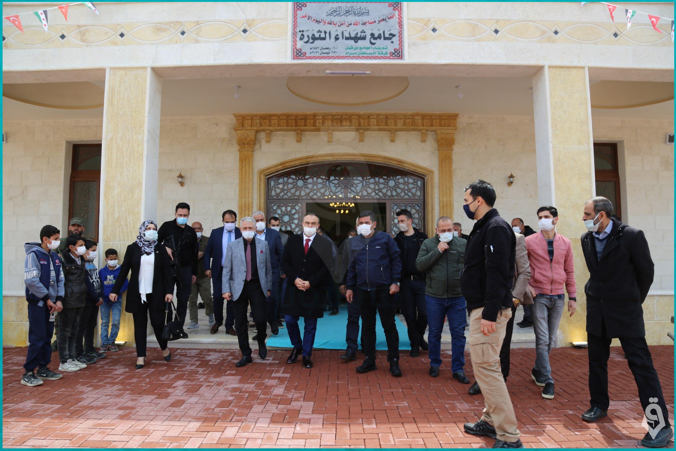 افتتاح جامع شهداء الثورة على الحدود السورية التركية