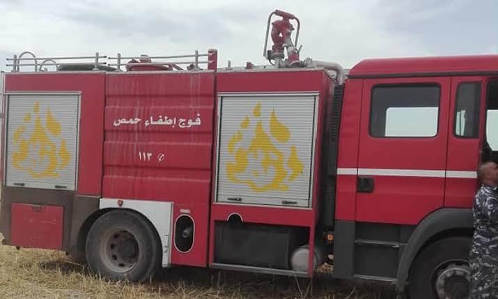 إصابة 7 أشخاص بحريق في مركز الايواء بحسياء بريف حمص