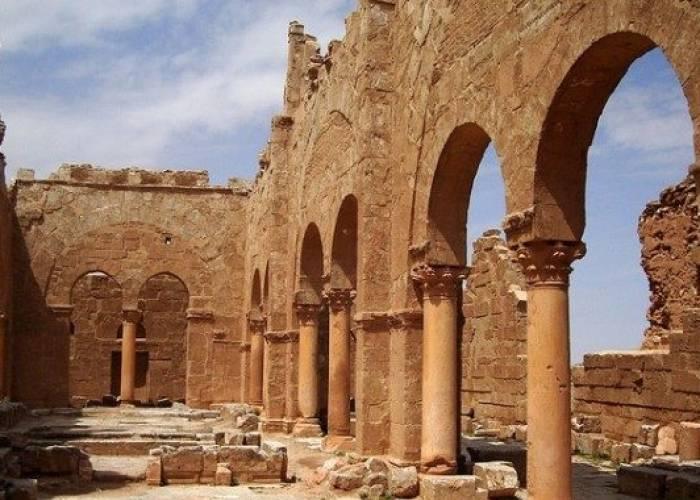 Al-Fatemiyoun are excavating about archaeologic in Sergio Polis, south of Al-Raqqa