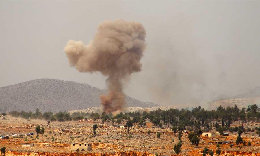 Regime forces shelled the Turkish point in Jabal Al-Zawiya