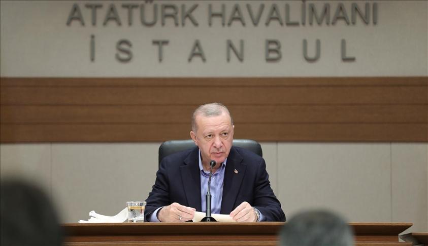 أردوغان: سنحاسب تنظيم ي ب ك/ بي كا كا على كل قطرة دم