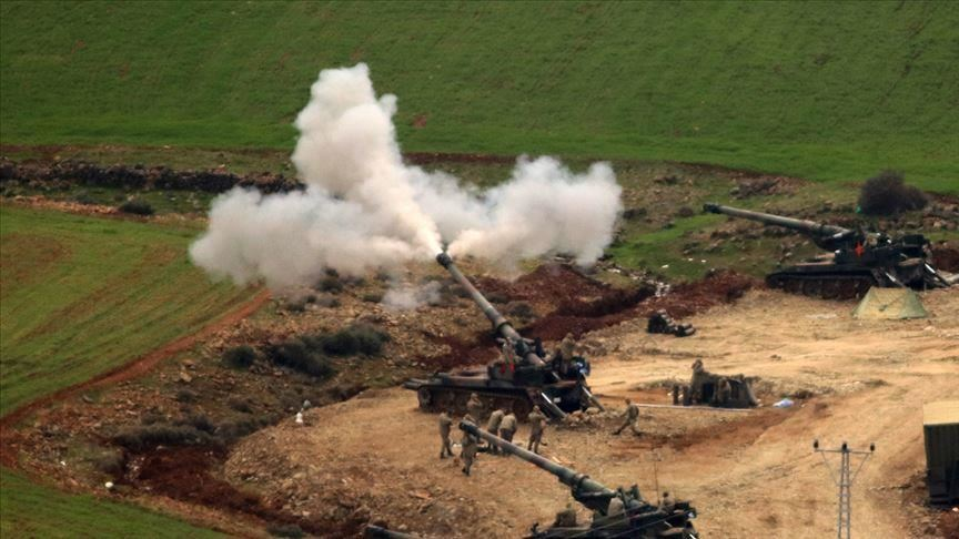 الجيش التركي يقصف مواقع لقسد في تل رفعت