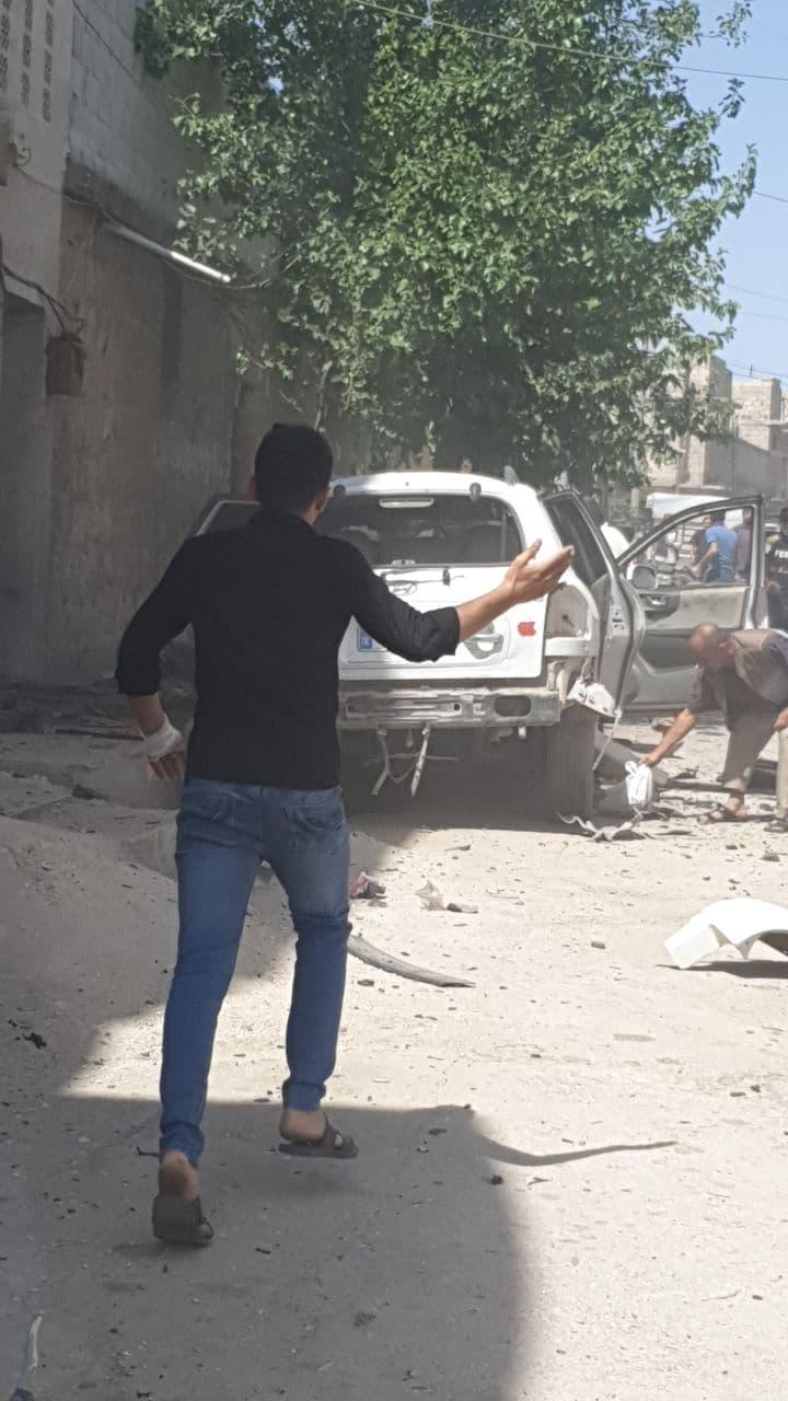 إصابة مدني بجروح خطيرة بانفجار في الباب