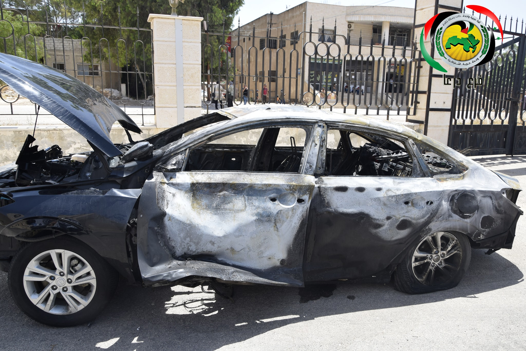 An engineering brigade member was killed while dismantling a bomb planted in a Baathist official's car in Daraa