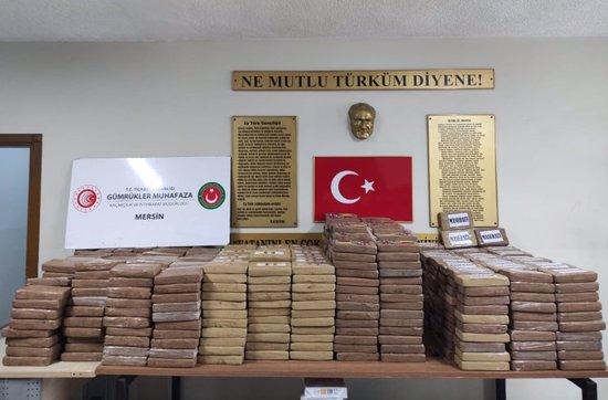 الإعلان عن ضبط أكبر كمية كوكايين في تاريخ تركيا