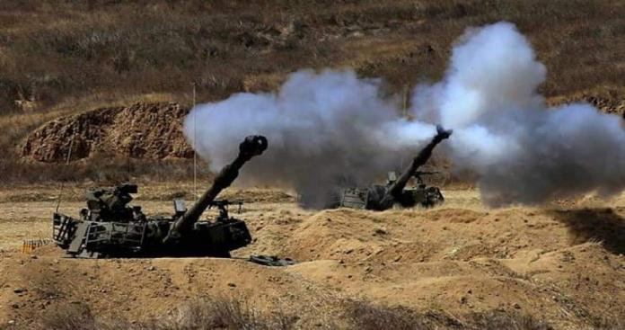 Israeli bombing targets a military site in Al-Quneitra countryside