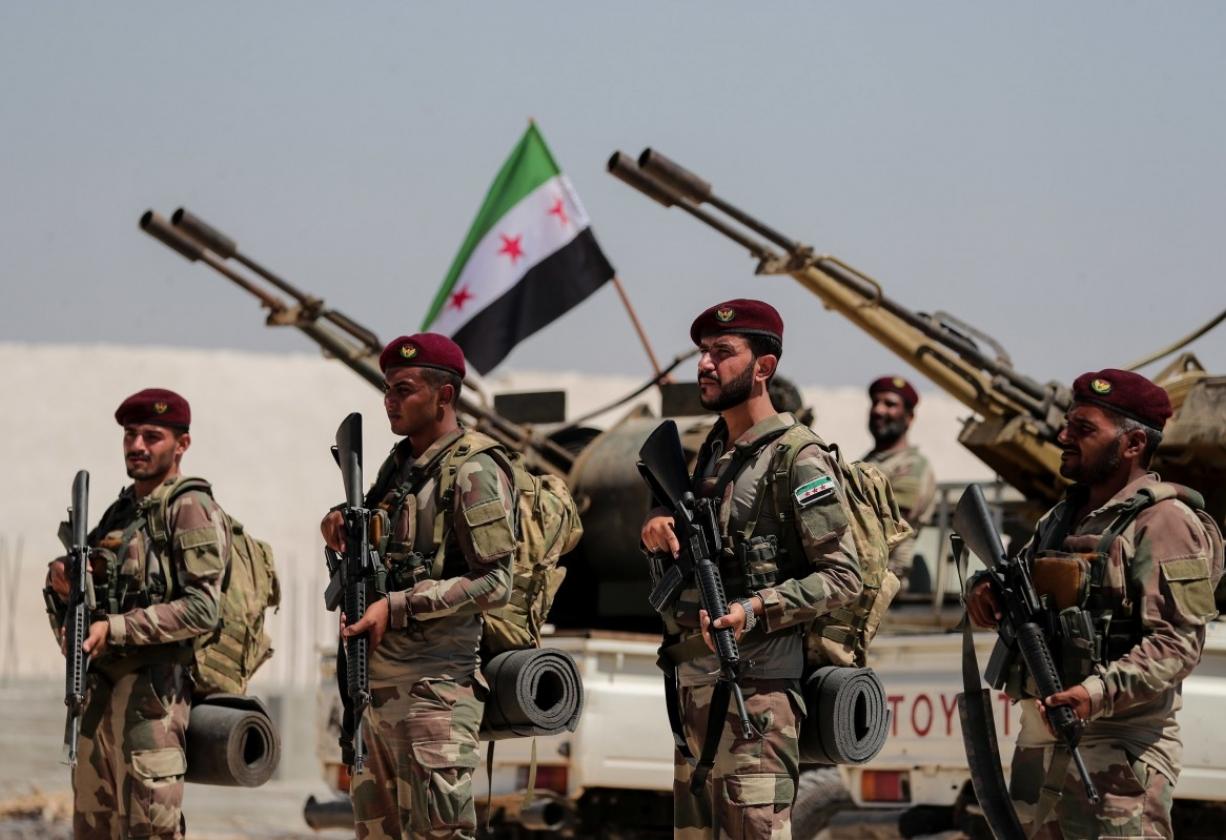 الجيش الوطني يفشل  محاولة تسلل لقسد  شرقي نهر الفرات