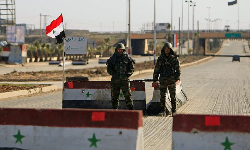 Unknown persons attack the security square in Nawa city in Daraa countryside