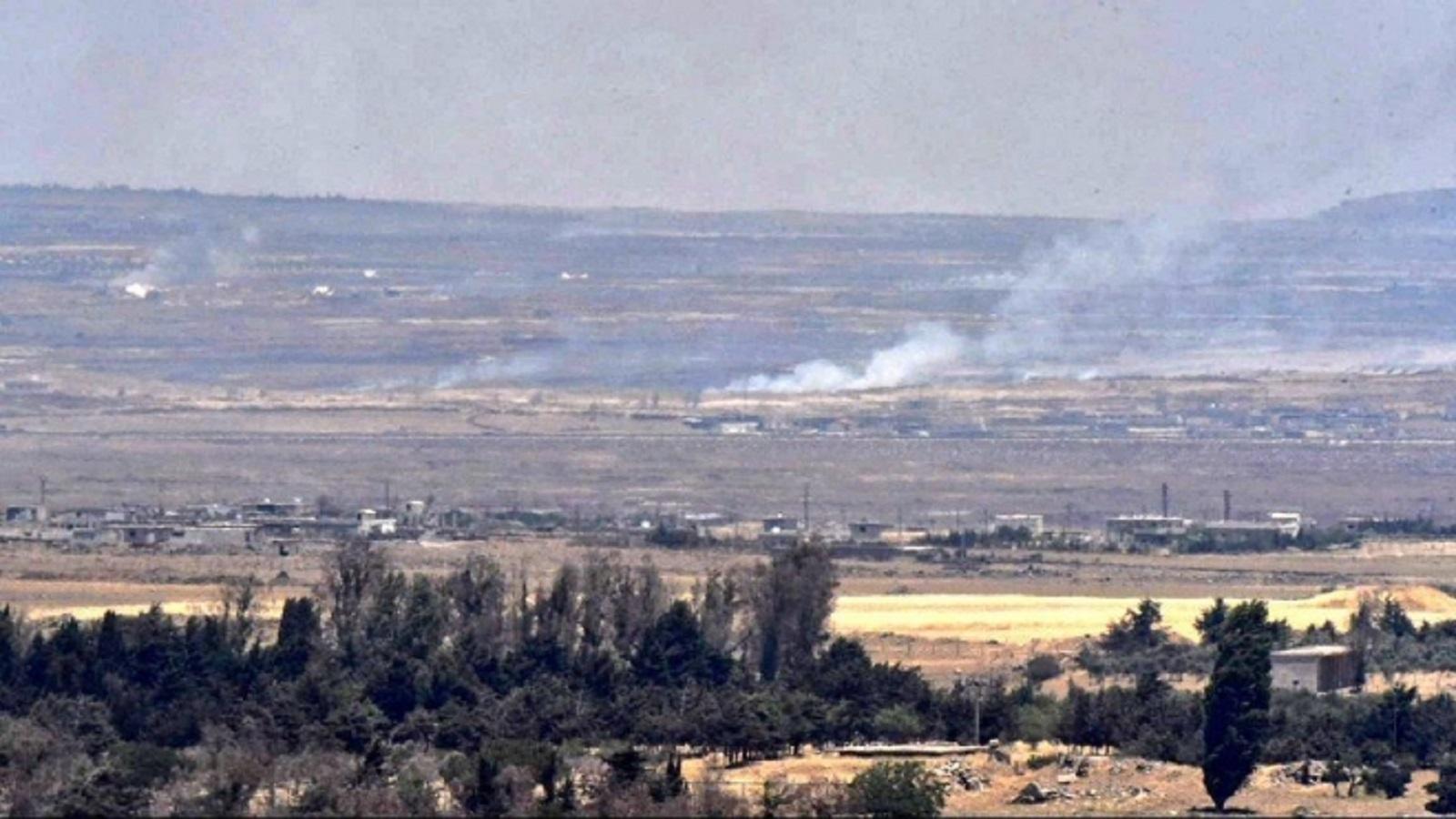 في حادثة جديدة  دبابة إسرائيلية تستهدف نقطة عسكرية لـ حزب الله  في القنيطرة