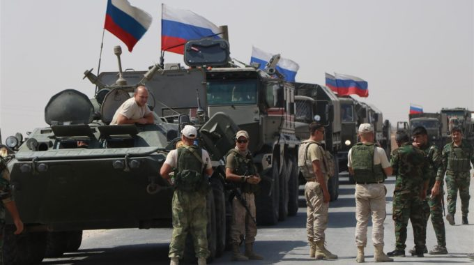 Russian forces and militias loyal to them launch a large-scale military campaign in the Syrian desert