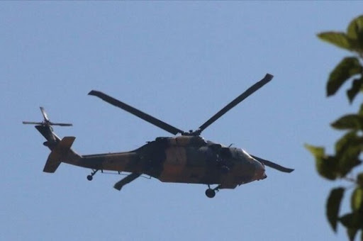 Video: Russian helicopters fly at low altitude over the city of Jarabulus