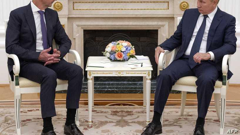 بوتين يلتقي رئيس النظام السوري بشار الأسد في موسكو