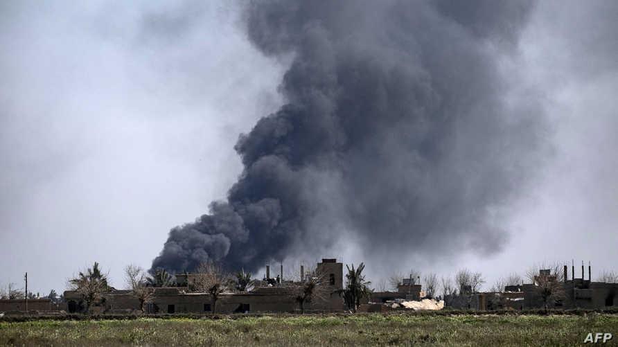 التحالف الدولي ينفي شن غارات جوية في البوكمال  على الحدود السورية - العراقية