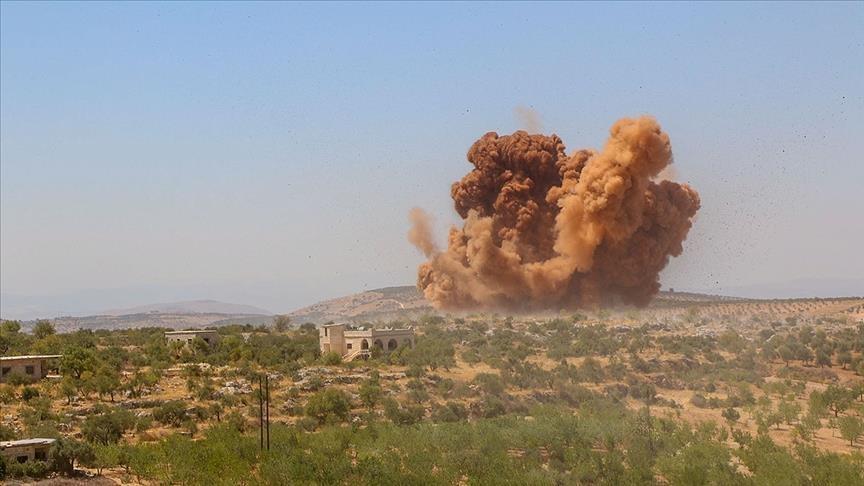 قصف جوي يستهدف الحشد الشعبي  على حدود سوريا و الحديث عن اصابات بشرية