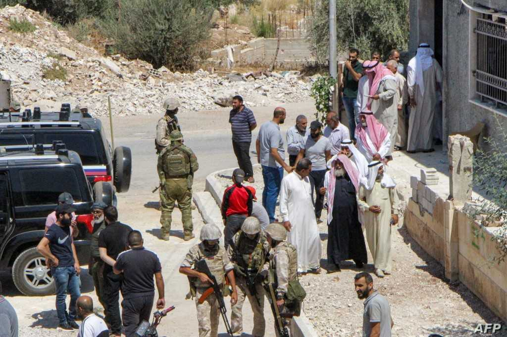 Regime forces enter the city of Muzayrib in Daraa