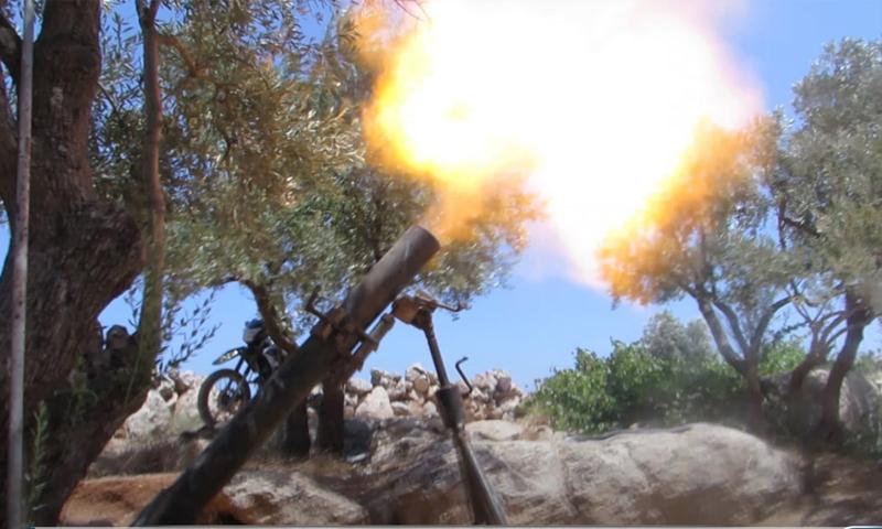 خسائر للقوات الروسية بقصف لفصائل المعارضة في ادلب