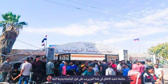 حملة تفتيش لقوات النظام في بلدة المزيريب بريف درعا