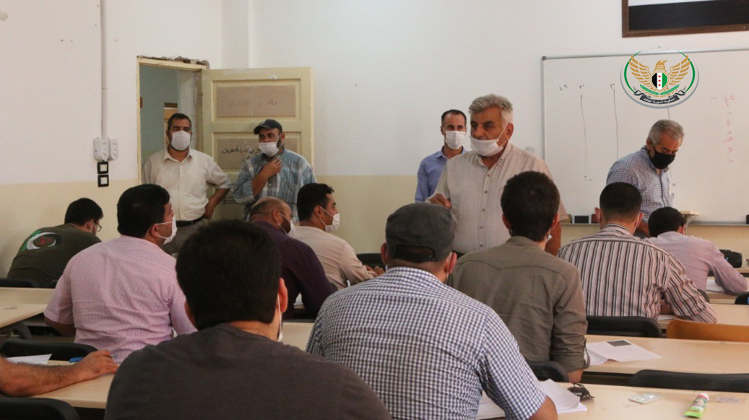 The University of Aleppo in the liberated areas continues the exams for the exceptional session