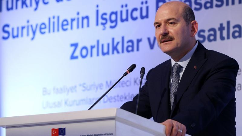 وزير الداخلية التركي  يدلي بتصريحات جديدة حول اللاجئين  السوريين داخل بلاده