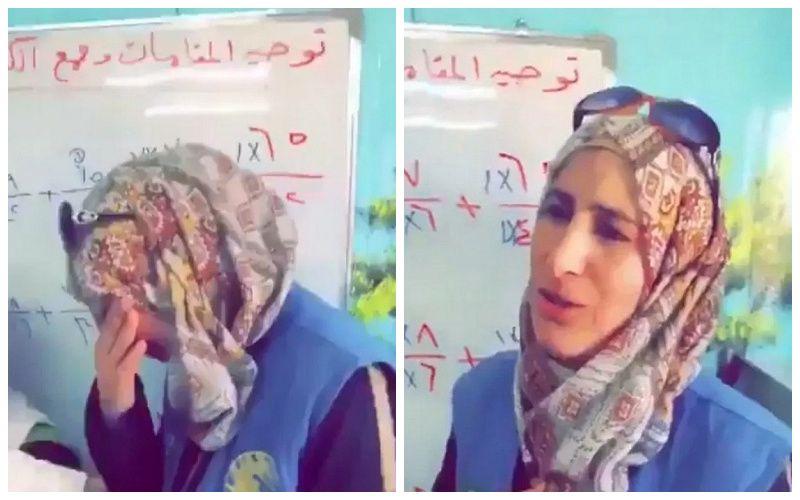 معلمة سورية لاجئة في الزعتري  تتلقى خبراً مفاجئا من زعيم عربي