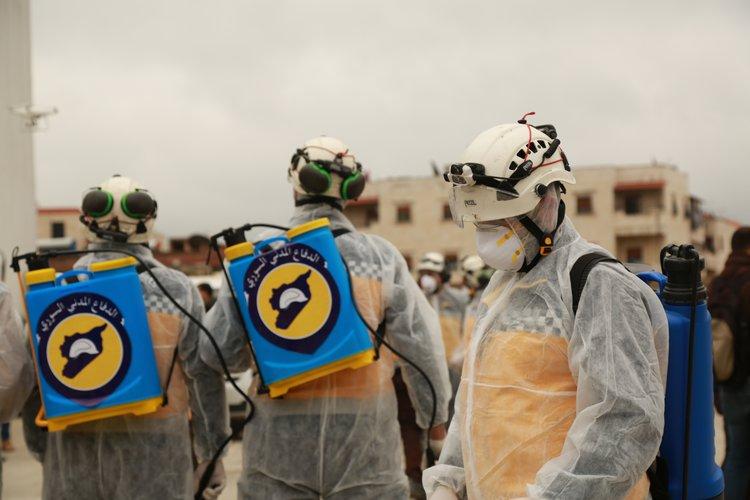 الدفاع المدني يحذر من اوضاع كارثية بسبب تفشي كورونا شمال سوريا