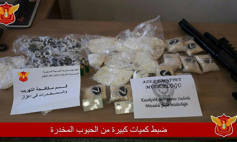 Security forces seize thousands of narcotic pills on Azaz - Afrin road