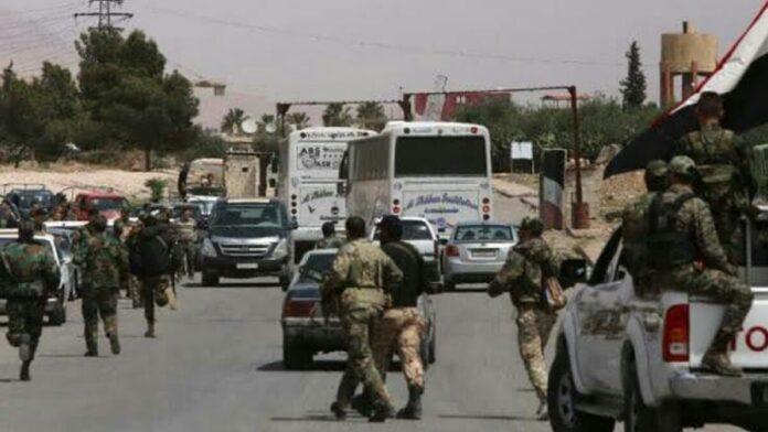 قطار التسوية مع النظام يصل إلى مدينة طفس غربي درعا