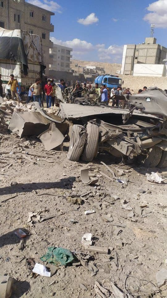 Civilians were injured in a car bomb explosion in the city of Al-Bab