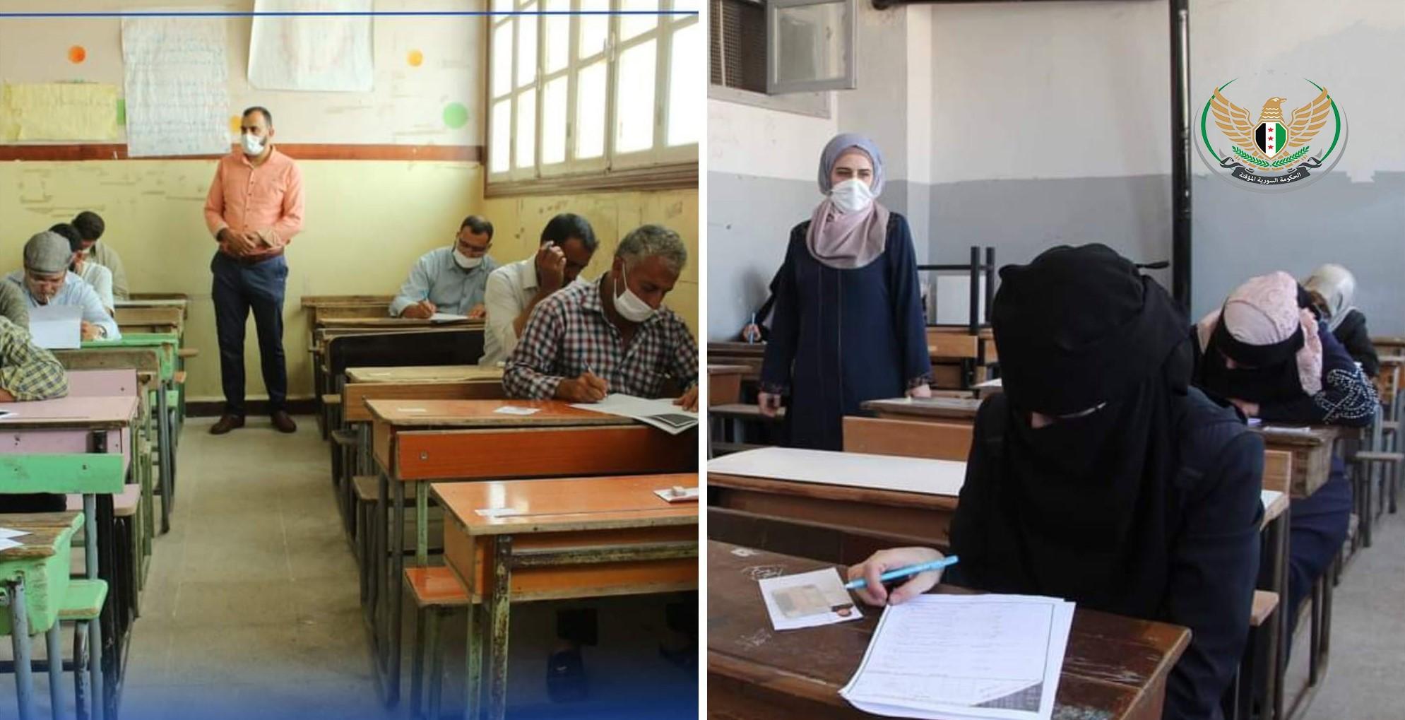 الحكومة المؤقتة تجري مسابقة لإنتقاء معلمين في المناطق المحررة