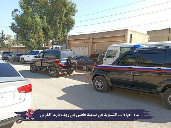 قوات النظام تدخل مدينة طفس بريف درعا الغربي لمواصلة فرض التسويات على الأهالي