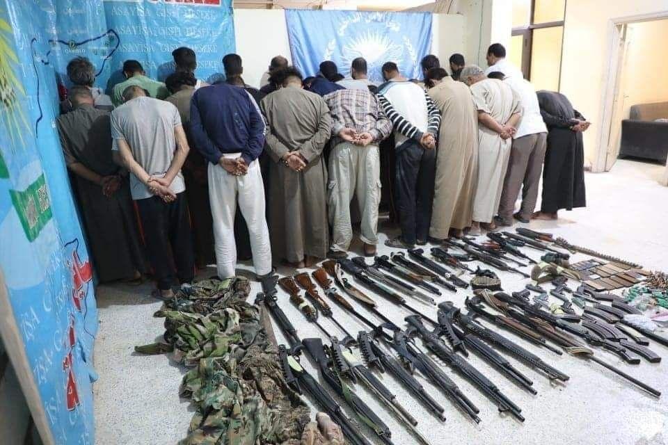 قسد تعلن اعتقال 27 عنصرا من داعش بعملية آمنية